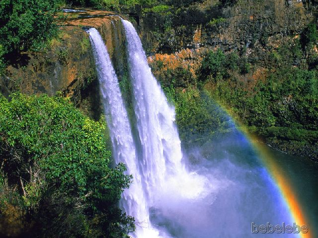 Wailua Falls is the must-see waterfall to visit on the garden island of